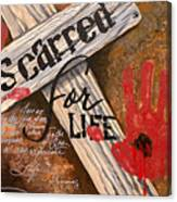 Scarred For Life Canvas Print