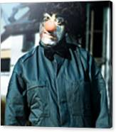 Scary Clown With Coat Canvas Print