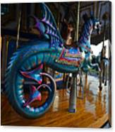 Scary Merry Go Round Boston Common Carousel Canvas Print
