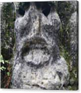 Scary Stone Head Canvas Print