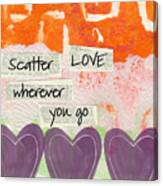 Scatter Love Canvas Print