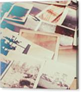 Scattered Collage Of Old Film Photography Canvas Print