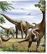 Scelidosaurus, Nothronychus Canvas Print