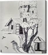 Scene Behind Rural Canvas Print