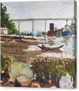 Scene Beside Inlet Canvas Print