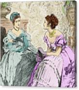 Scene From Anthony Trollope's Novel He Knew He Was Right Canvas Print