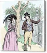 Scene From Sense And Sensibility By Jane Austen Canvas Print