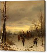 Scene From The Thirty Years War Canvas Print