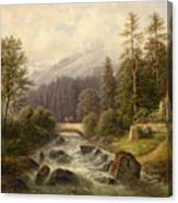 Scene From Weyer Upper Austria Canvas Print