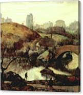 Scene In Central Park Canvas Print