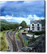 Scene In Snowdonia National Park In Wales Canvas Print