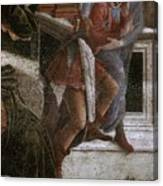 Scenes From The Life Of Moses Detail Alessandro Botticelli Canvas Print