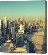 Scenic Aerial View Of Dubai Canvas Print