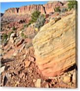 Scenic Drive Boulder View Canvas Print