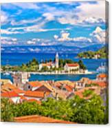 Scenic Island Of Vis Waterfront Canvas Print