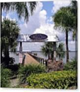 Scenic Melbourne Beach Pier  Florida Canvas Print