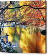 Scenic New Jersey Fall Fly Fishing  Canvas Print