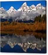 Scenic Teton Fall Reflections Canvas Print