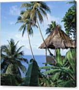 Scenic Thatched Hut Canvas Print