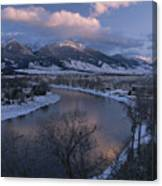 Scenic Twilight View Of The Yellowstone Canvas Print