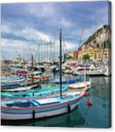 Scenic View Of Historical Marina In Nice, France Canvas Print