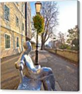 Scenic Zagreb Upper Town Walkway Canvas Print
