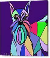 Schnauzer Colors Canvas Print