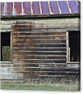 Schoohouse Wall Of Old Canvas Print