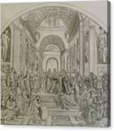 School Of Athens/ Homage To Raphael Canvas Print