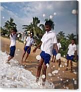 School Trip To Beach IIi Canvas Print