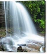 Schoolhouse Falls In Nantahala National Forest Panorama Canvas Print