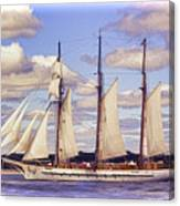 Schooner Mystic Under Sail Canvas Print