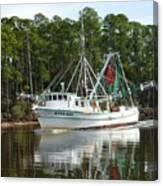 Schrimp Boat On Icw Canvas Print