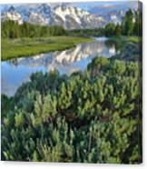 Schwabacher Landing In Grand Teton Canvas Print