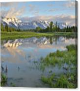 Schwabacher Landing Morning Canvas Print
