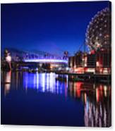 Science World And Fireworks Canvas Print