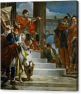 Scipio Africanus Freeing Massiva Canvas Print