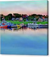 Scituate Harbor At Sunset Canvas Print