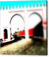 Scootering Through A Medina Gate  Canvas Print