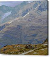 Scoping The Alps Canvas Print