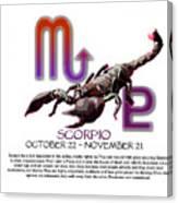 Scorpio Sun Sign Canvas Print