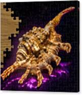 Scorpion Shell Puzzle Canvas Print