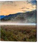 Scotland Mist In Widescape Canvas Print