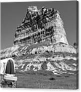 Scots Bluff Black And White Canvas Print
