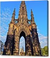 Scott Monument, Edinburgh, Scotland Canvas Print