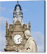 Scott Statue And Balmoral Clock Tower Canvas Print