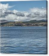 Scottish Panorama Over The River Clyde Canvas Print