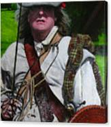 Scottish Soldier Of The Sealed Knot At The Ruthin Seige Re-enactment Canvas Print