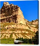 Scotts Bluff National Panoramic Landscape Canvas Print
