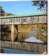 Scotts Covered Bridge West River Canvas Print